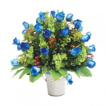 Arreglo en rosas azules